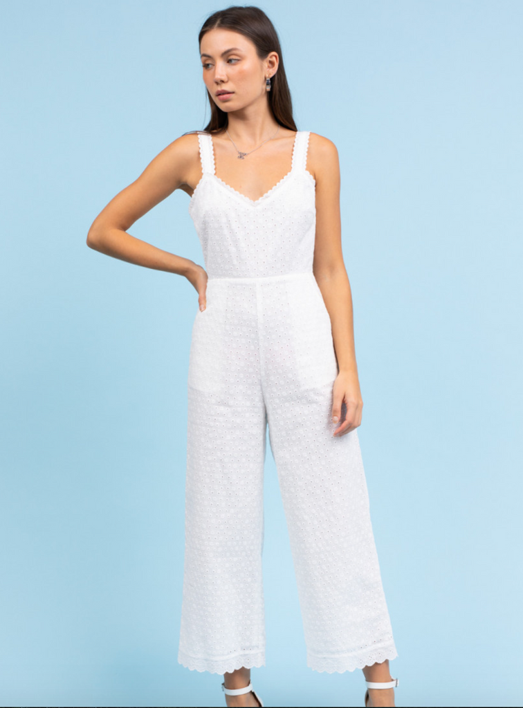 Summer Dreaming Sleeveless Lace Jumpsuit