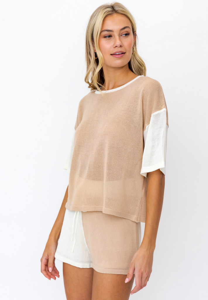 Jules Color Block Knit Top