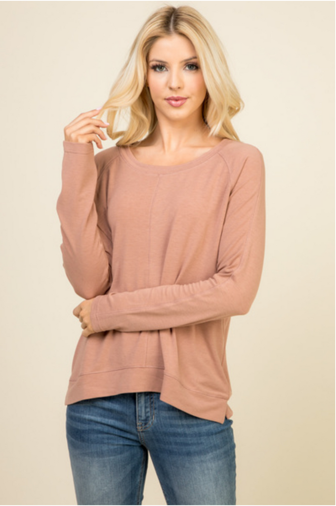 LONG SLEEVE KNIT TOP