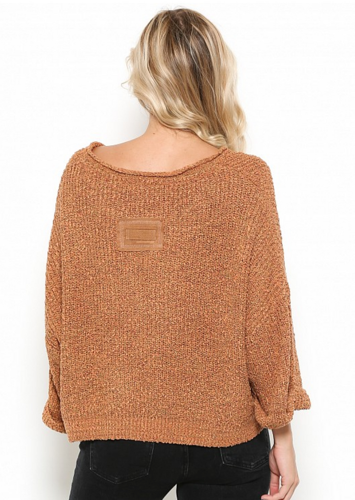 Slouch Stitch Crop Sweater