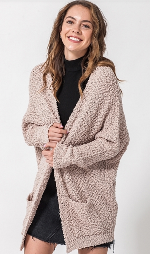 Long Line Woven Cardigan