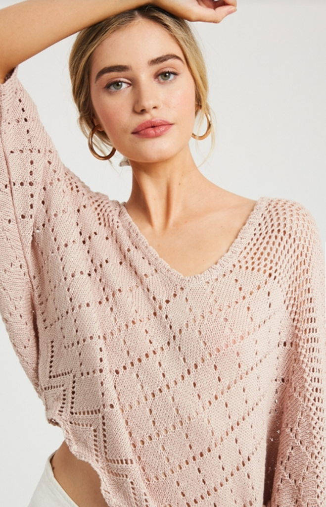 OPEN WEAVE KNIT SWEATER
