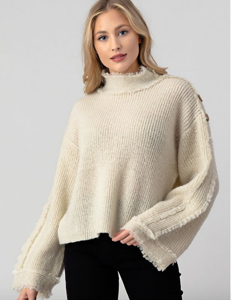EYELASH WISH MOCK NECK SWEATER