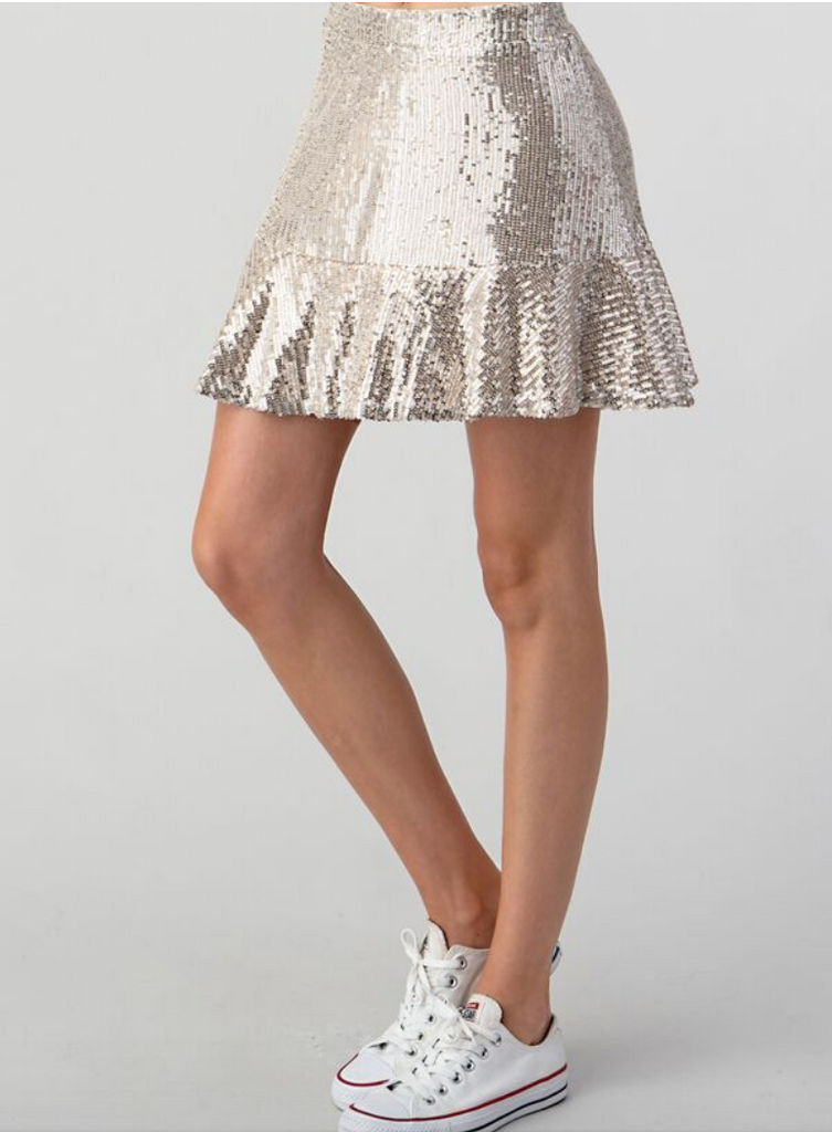 Micro Sequin Flirty Skirt