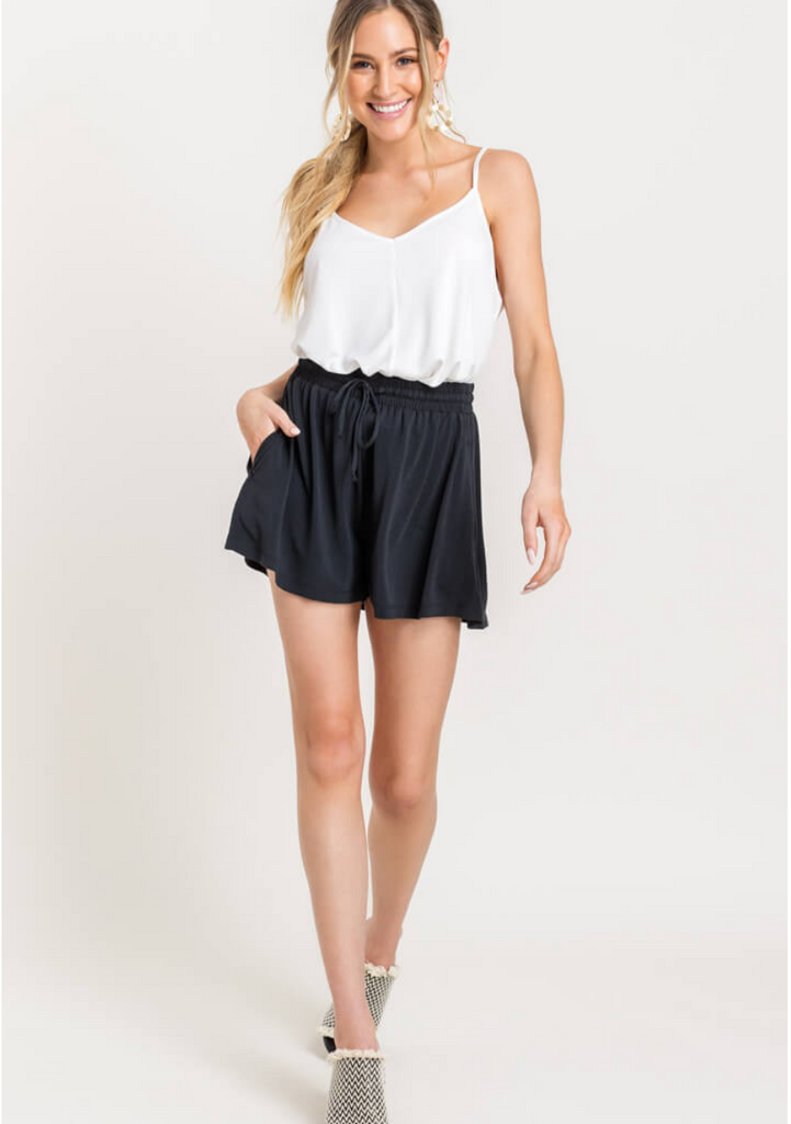 High Waisted Drawstring Shorts
