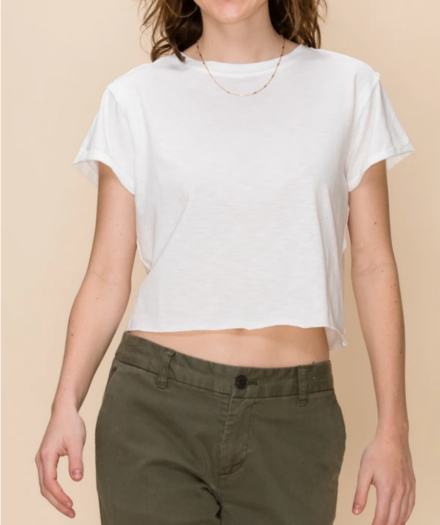 RAW TALENT CROPPED T-SHIRT