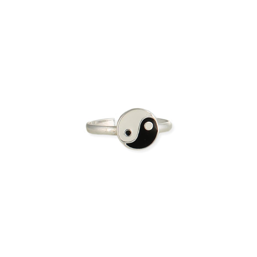 Yin Yang Enameled Toe Ring
