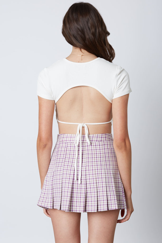 Katie Plaid Pleated Mini Skirt