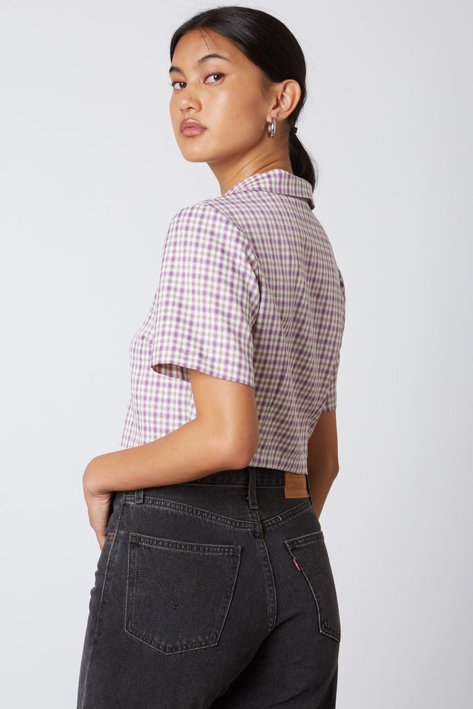Katie Button Up Crop