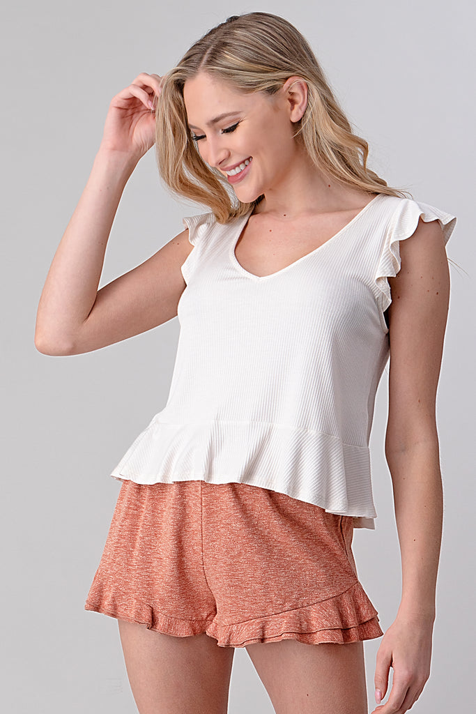 Bella Ruffle Top