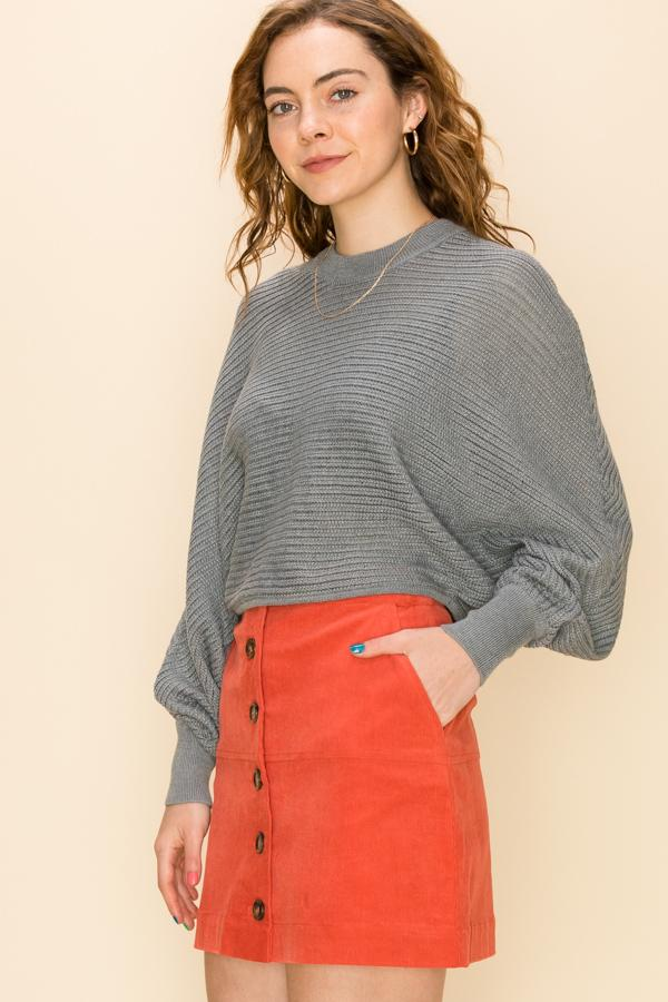 Grayson Ribbed Dolman Sweater