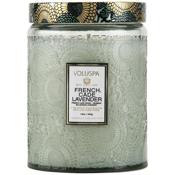 FRENCH CADE LAVENDER LARGE JAR CANDLE VOLUSPA
