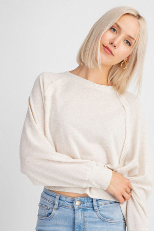DOLMAN SLEEVE LIGHT WEIGHT JERSEY TOP