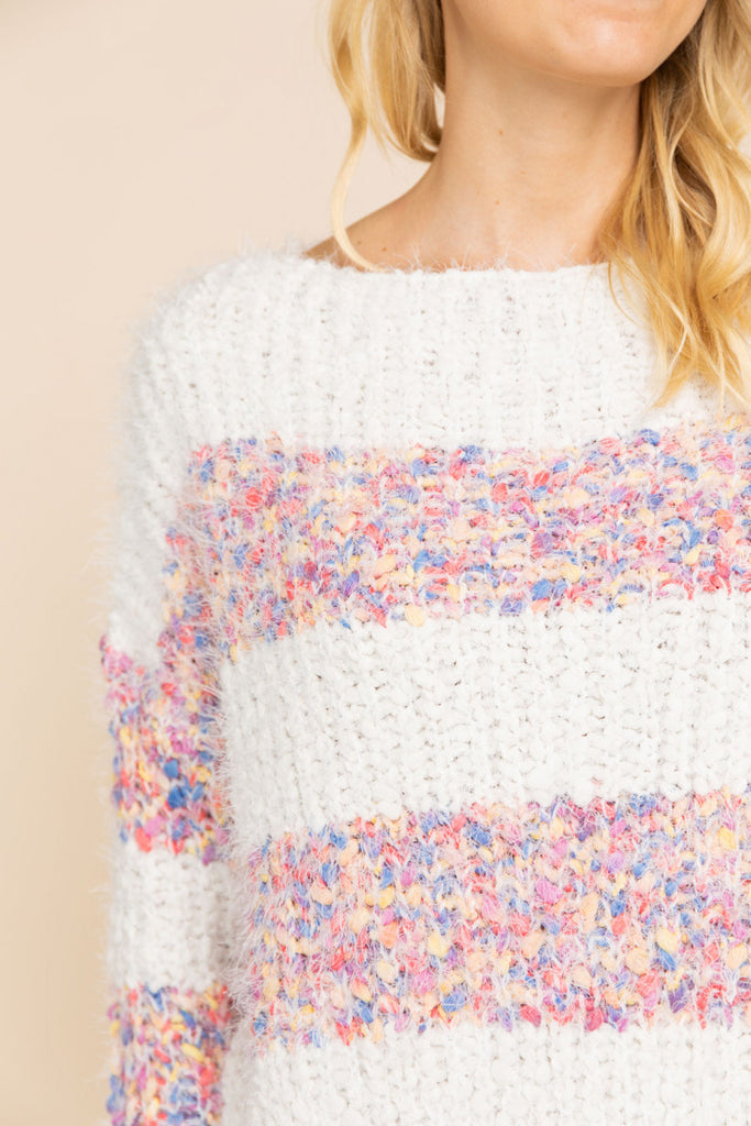 Confetti Striped Sweater