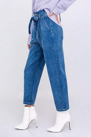 Abby Paper Bag Denim Pant