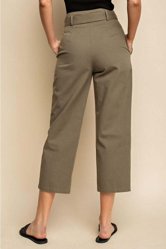 Belted Pants With Front Tie