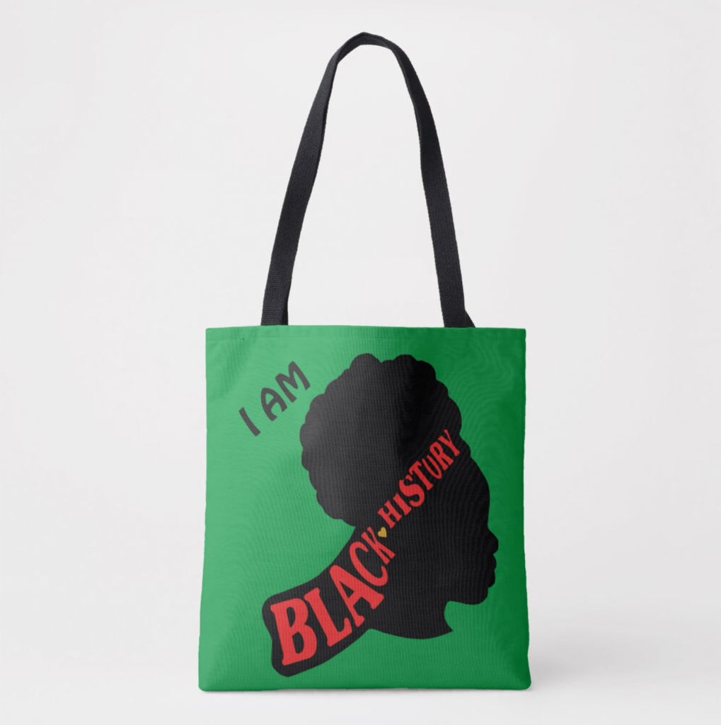 Black History Month Tote/GreenScarf