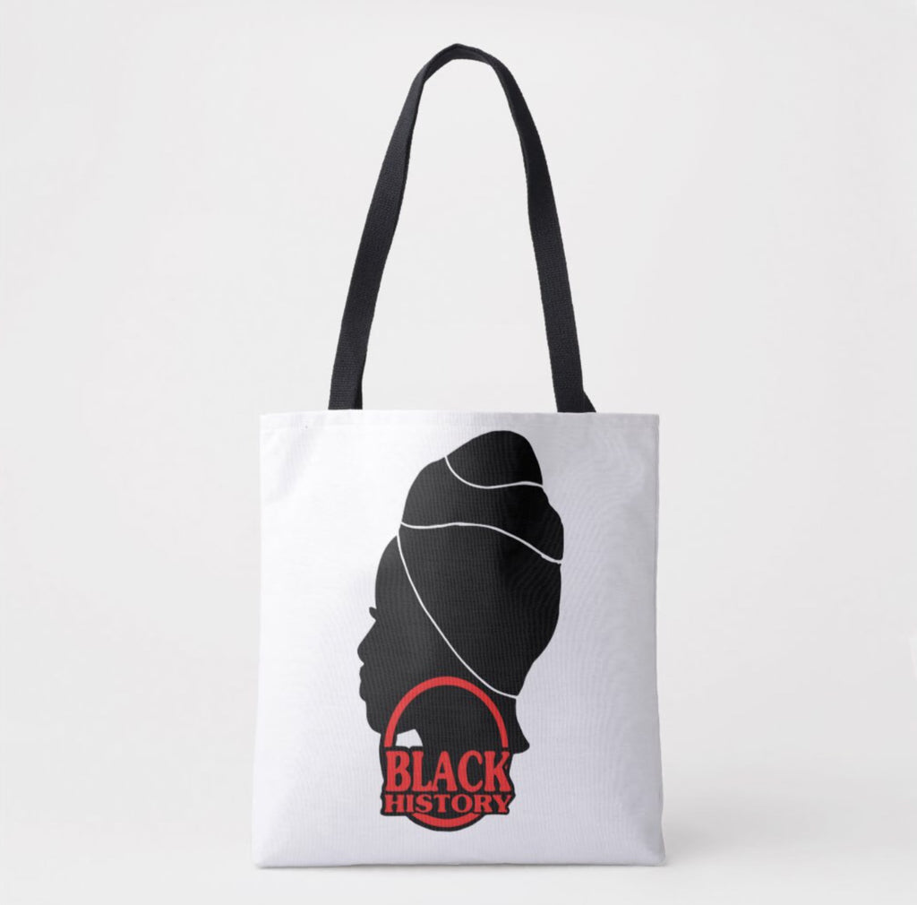 Black History Month Tote/WhiteRed