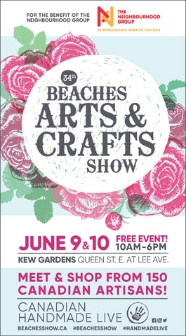 Beaches Arts & Crafts Show, June 9 and 10.  Serica Home at Booth 70.