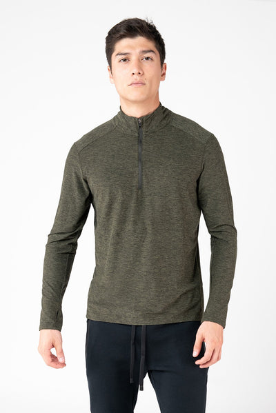 Day-To-Day Mens Long Sleeve Top With Zip