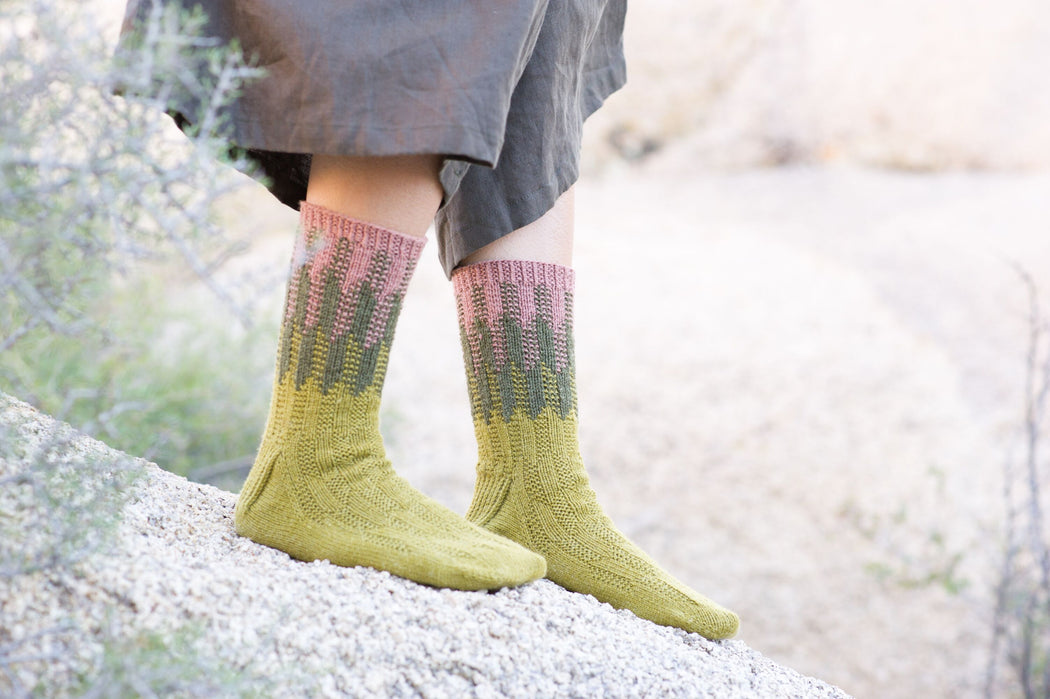 Cereus Socks by Fiona Alice