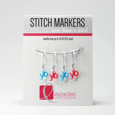 Lace Stitch Markers - Yarn Over Set