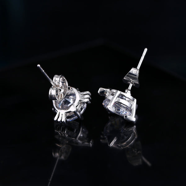 White Gold Plated Cute cat Earring - FREE SHIPPING