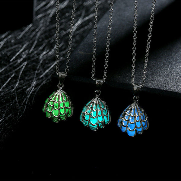 Silver Wave Hollow Luminous Necklaces