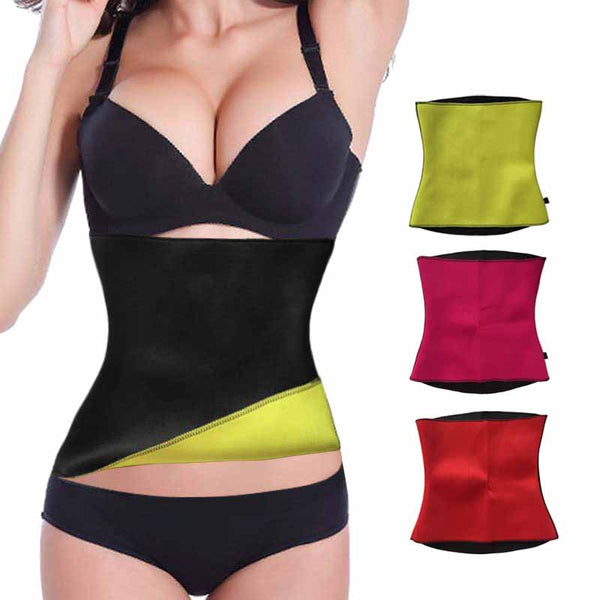 Sweat Waist Trainer, Body Shaper, Slimming Belly Hot Shaper Belt Free