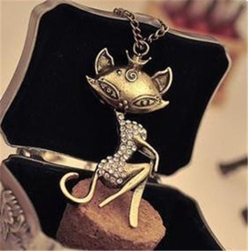 Vintage Sexy Cat Necklace - FREE SHIPPING