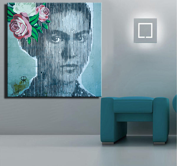 Frida Kahlo Graffiti Canvas Print - Envío gratis a Mexico