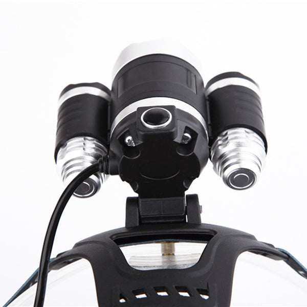 New 5000LM 3x XML XM-L T6 LED 4 Modes Rechargeable lantern Headlamp 3*T6 Head Lamp Headlight +18650 Batteries Charger