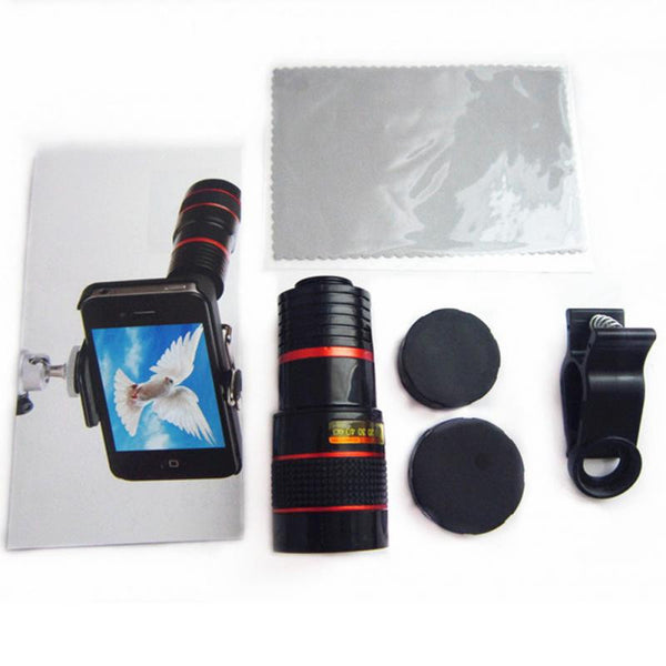 Universal 8X Optical Zoom Mobile Telescope Camera Lens