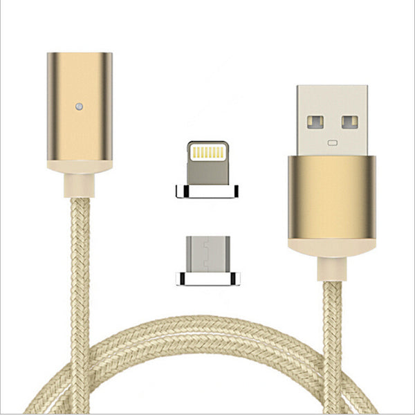 Magnetic USB Charging Cable for iPhone + Android 2 in 1