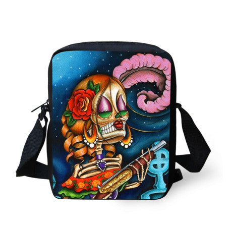 Sugar Skull Messenger bags - Limited Edition