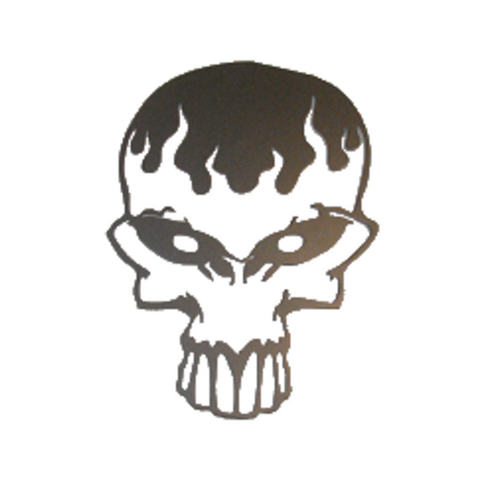 Melting Skull CNC Plasma Metal Wall Art - Metalhead Art & Design, LLC