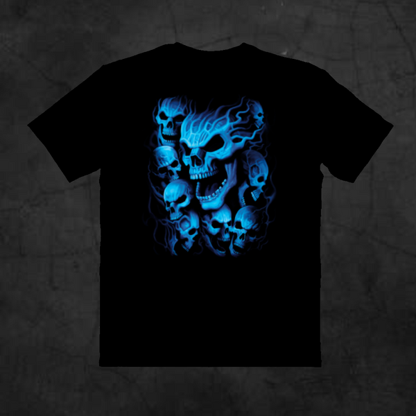 BLUE SKULLS - Metalhead Art & Design, LLC