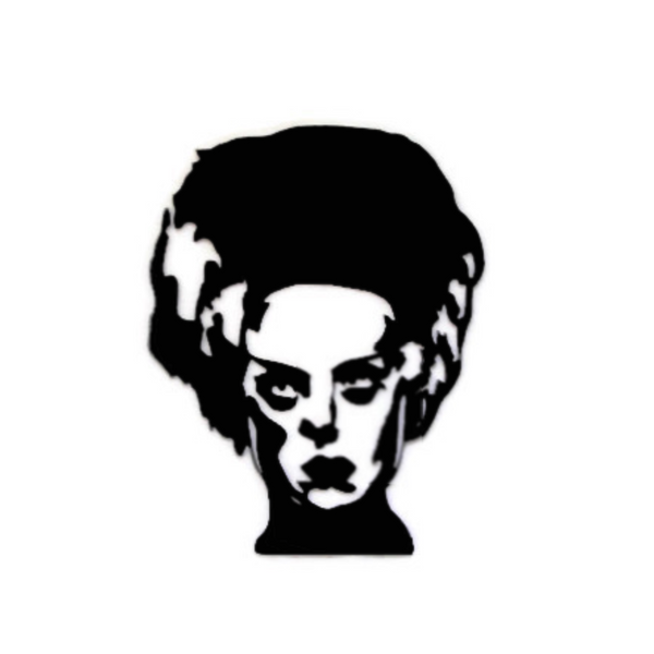 Bride of Frankenstein Classic Horror Metal Wall Art - Metalhead Art & Design, LLC