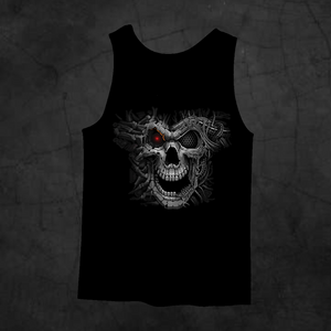CYBORG SKULL TANK TOP - Metalhead Art & Design, LLC