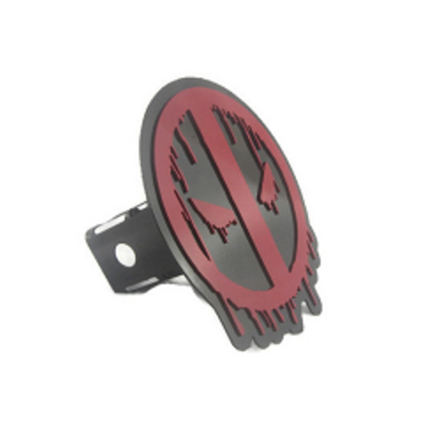 Deadpool Trailer Hitch Cover - Metalhead Art & Design, LLC
