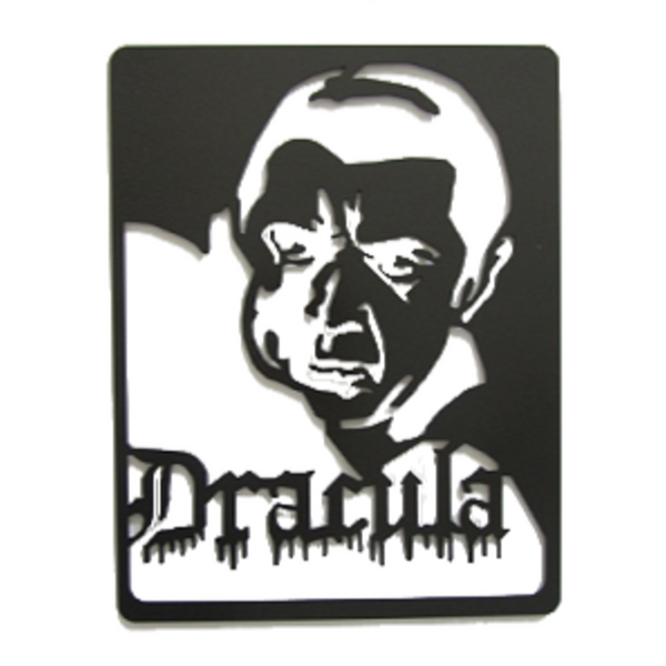 Classic Dracula Metal Wall Sculpture - Metalhead Art & Design, LLC