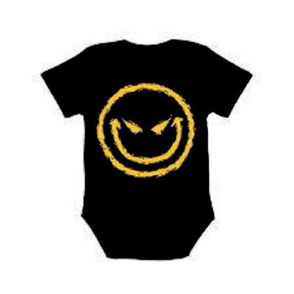 BABY EVIL GRIN ONESIE - Metalhead Art & Design, LLC