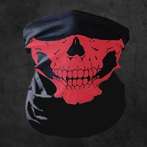 RED SKULL NECK GAITER FACE MASK