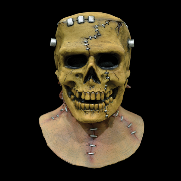 Frankenskull Full Head and Neck Halloween Mask - Metalhead Art & Design, LLC