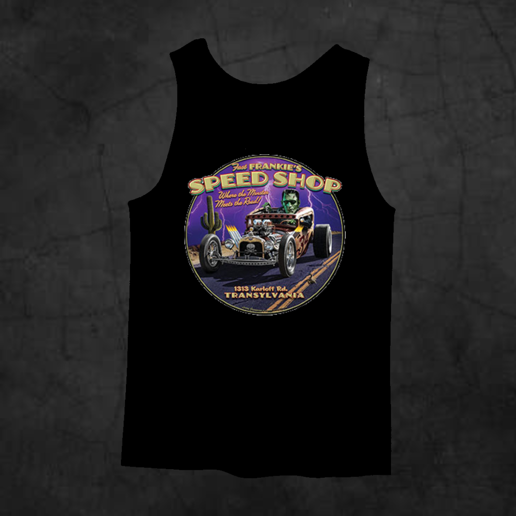 FRANKIE'S SPEED SHOP TANK TOP - Metalhead Art & Design, LLC