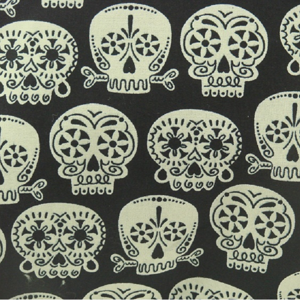 Glow In The Dark Sugar Skull Throw Pillow - Metalhead Art & Design, LLC
