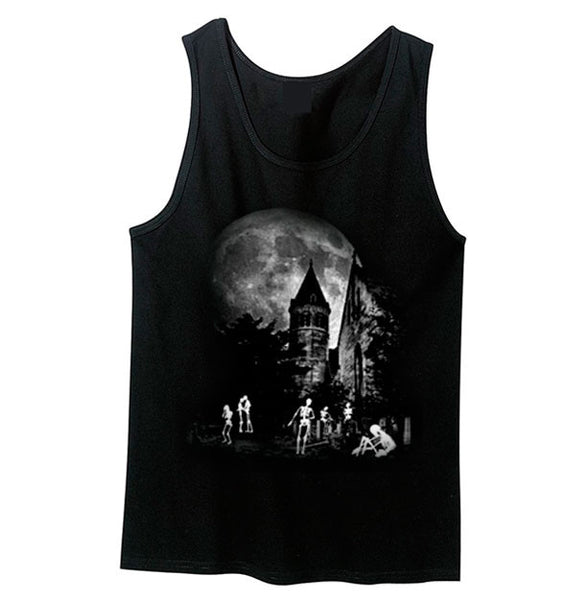 Glow In The Dark Haunted Graveyard Tank Top - Metalhead Art & Design, LLC
