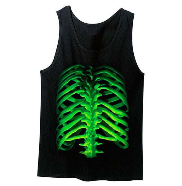 Glow in the Dark Rib Bone Tank Top - Metalhead Art & Design, LLC