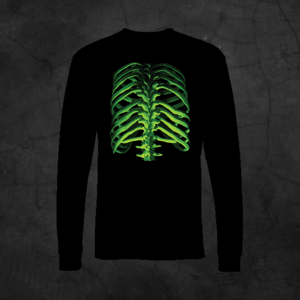 GLOW BONES - RIBS - LONG SLEEVE - Metalhead Art & Design, LLC