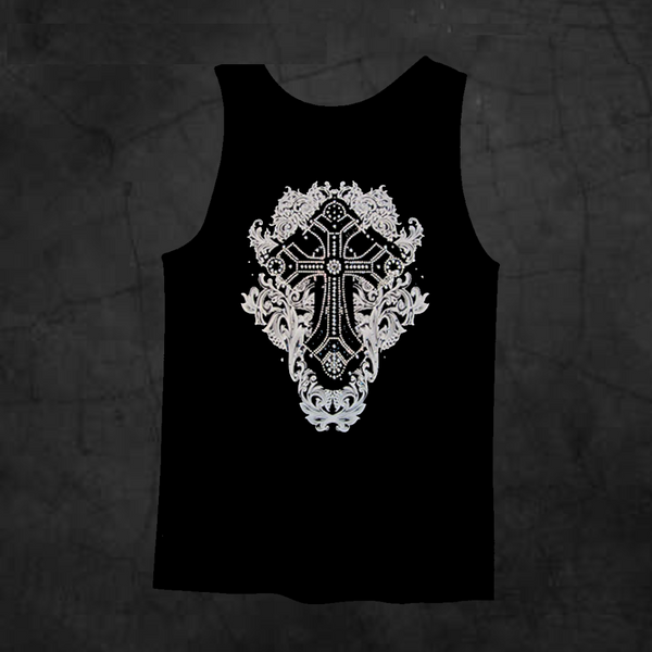 GOTHIC CROSS TANK TOP - Metalhead Art & Design, LLC
